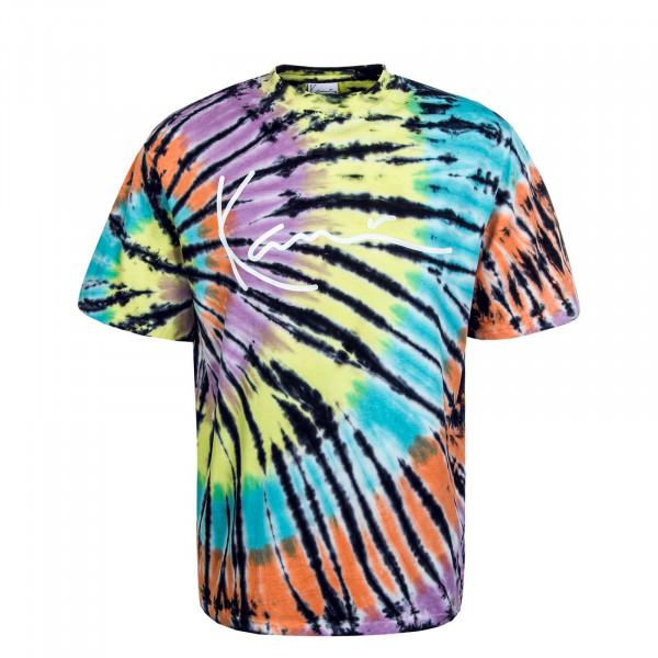 Herren T-Shirt Tie Dye Signature Tee Black