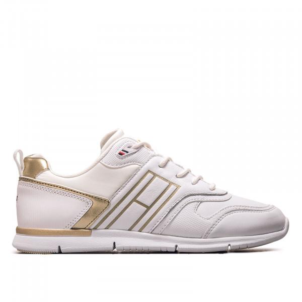 Damen Sneaker - Metallic Lightweight Sneaker - White / Gold