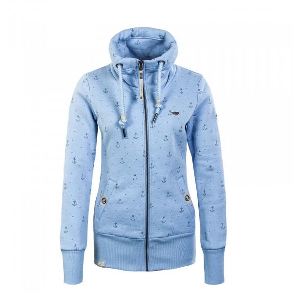 Damen Sweatjacke - Rylie Marina Zip - Light Blue