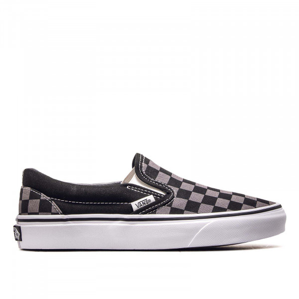 Unisex Sneaker Classic Slip On Black Pewter Checkerboard