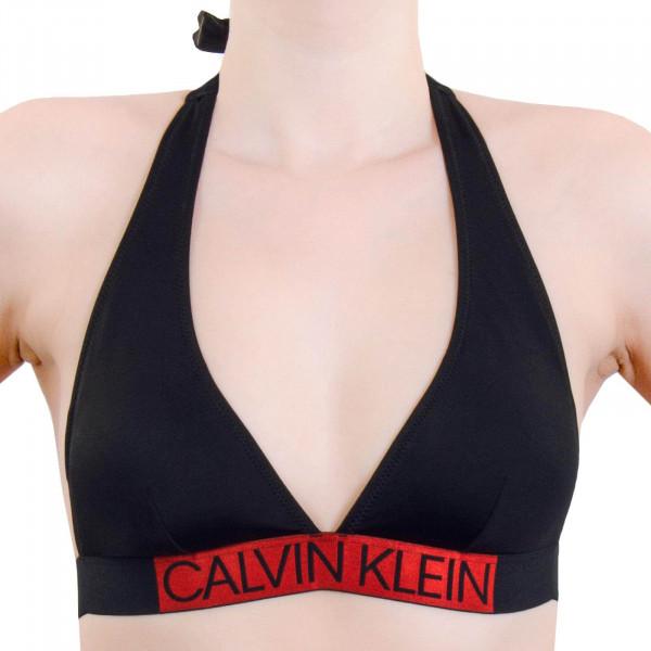 Damen Bikini Triangle 600 Plunge Black