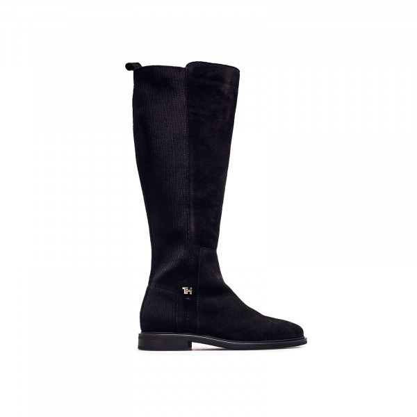 Damenstiefel Essential Flat Long Boot Black