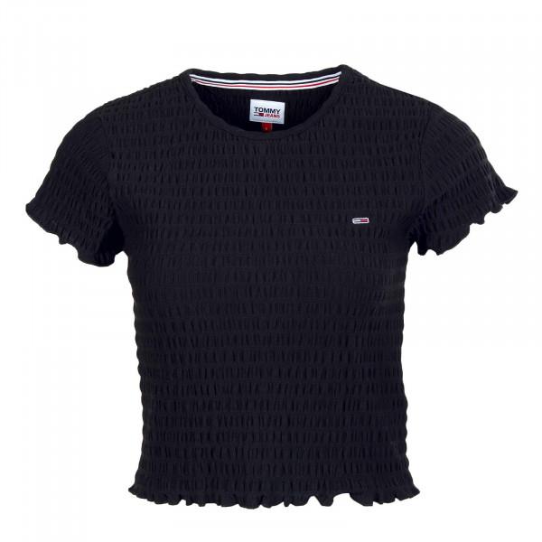 Damen T-Shirt - Crop Smock Tee 10449 - Black