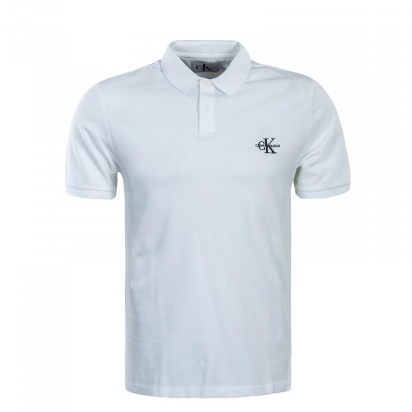 CK Polo New Monogram Logo White