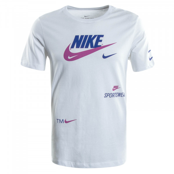 Herren T-Shirt 0078 White Royal