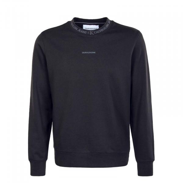 Herren Sweatshirt - Logo Jacquard Crew - Black