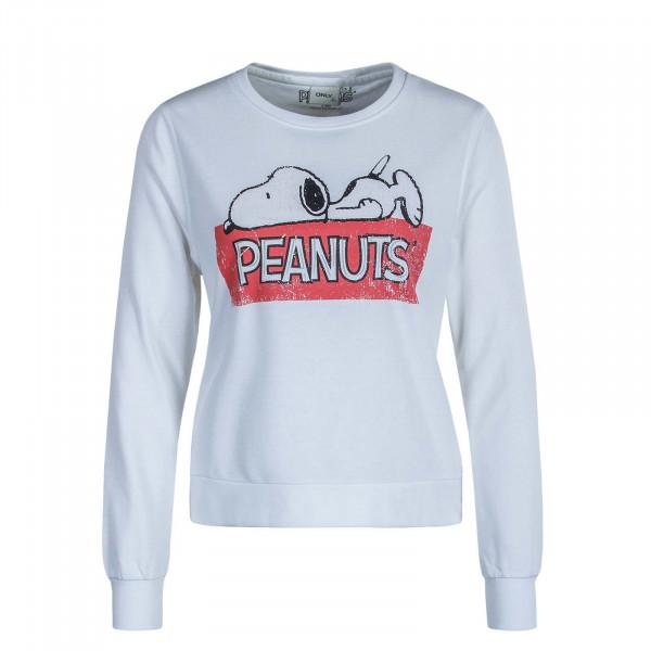 Damen Sweatshirt Peanuts Life Sweat White Print Lazy