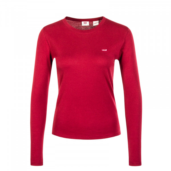 Damen Longsleeve Baby Tee Biking Red