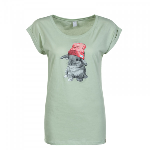 Damen T-Shirt - It Hasi - Pistazie