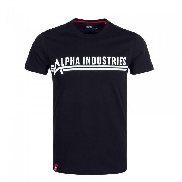 Herren T-Shirt Black White