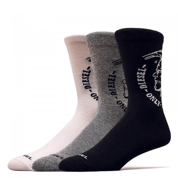 Socken 3er Pack SKM Ray Grey White Black