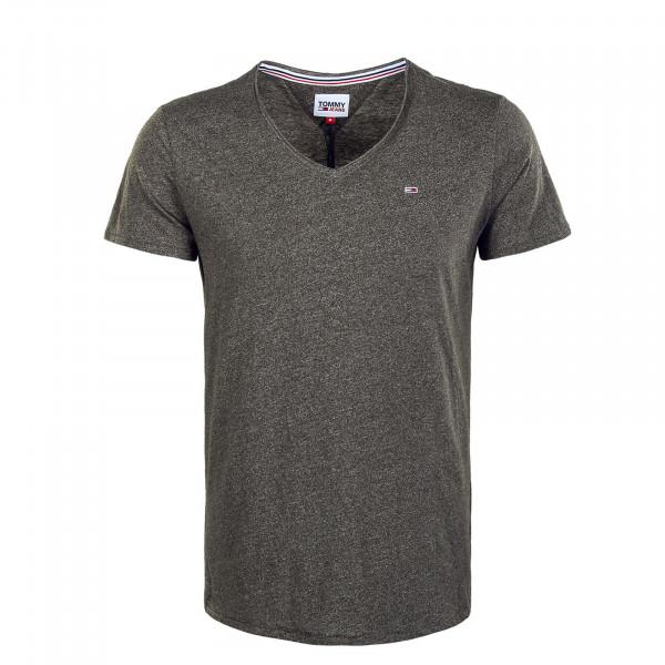 Herren T-Shirt - Slim Jaspe V - Dark Olive