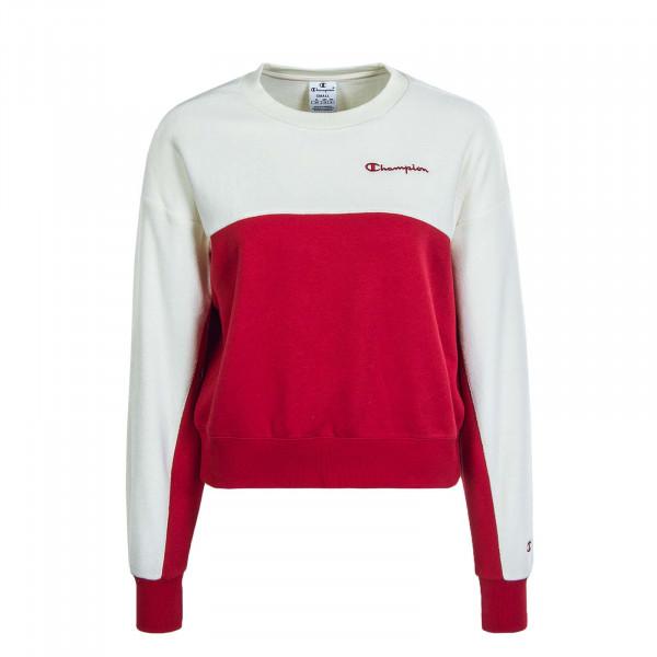 Damen Sweat 113232 Crimson Off White