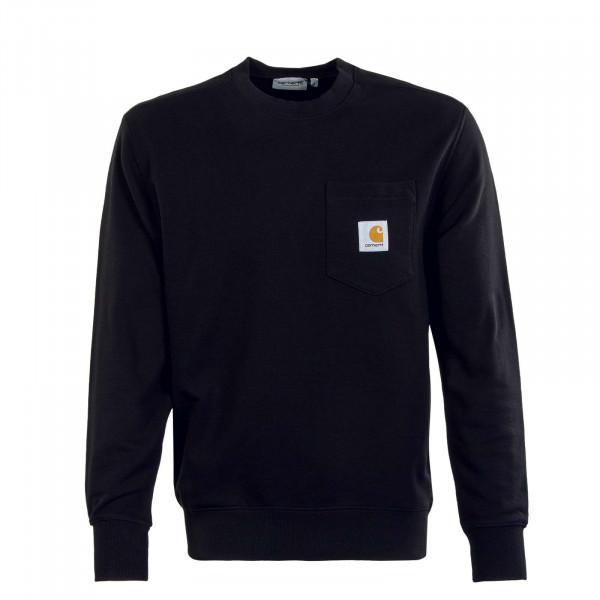 Herren Sweatshirt - Pocket - Black