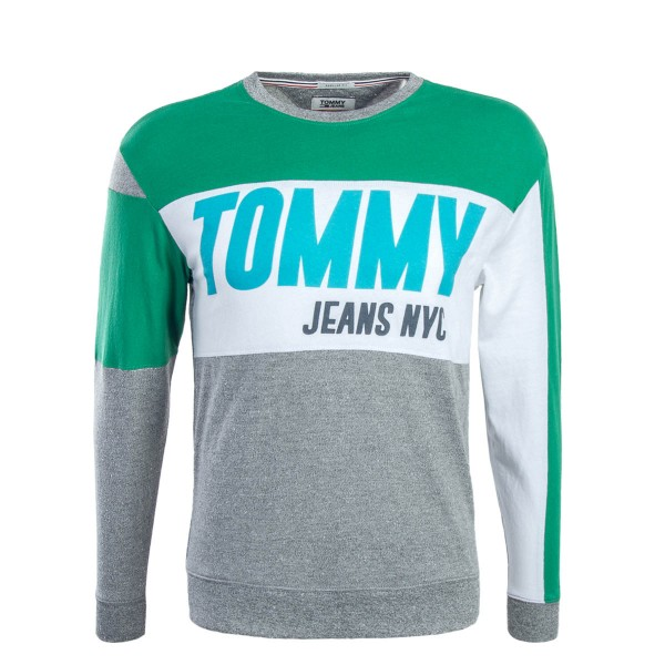 Tommy LS TJM Big Text Green Grey