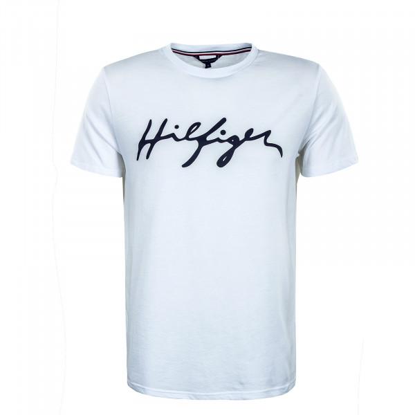 Herren T-Shirt - Crew Neck - White