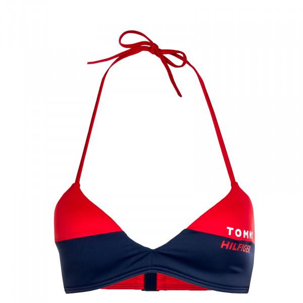Damen Bikini Fixed Triangle RP 2076 Red Navy