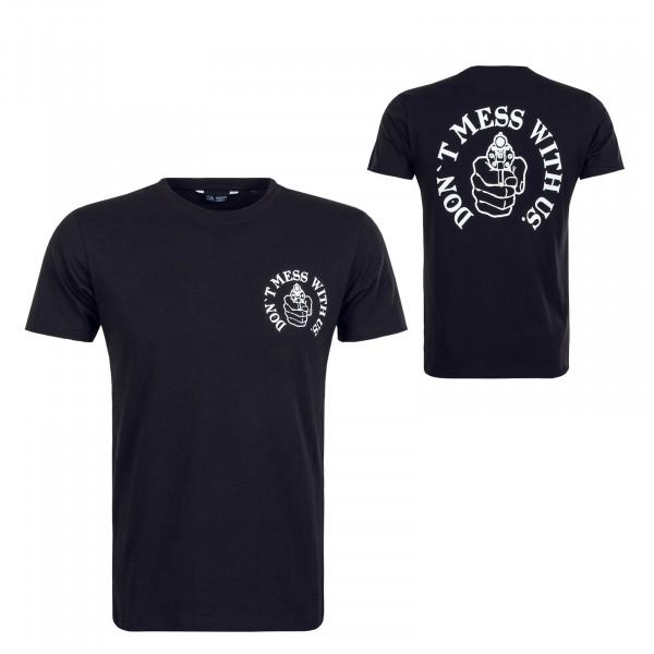 Herren T-Shirt Revolver Black