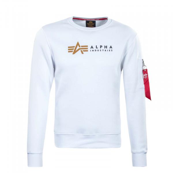 Herren Sweatshirt - Label - White