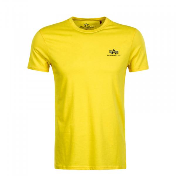 Herren T-Shirt Small Basic Empire Yellow