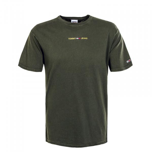 Herren T-Shirt - Metallic Linear 9586 - Dark Olive