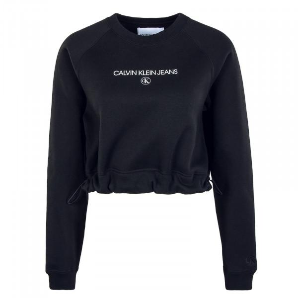 Damen Sweatshirt Cropped Black