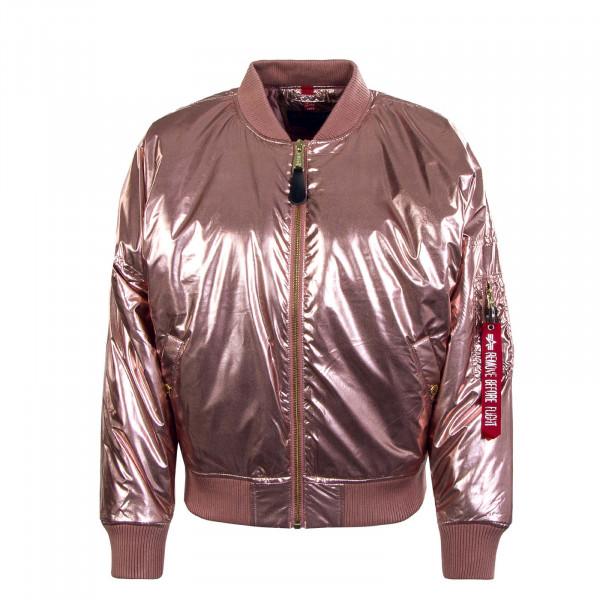 Damen Jacke - MA-1 OS Metallic - Rosa Copper