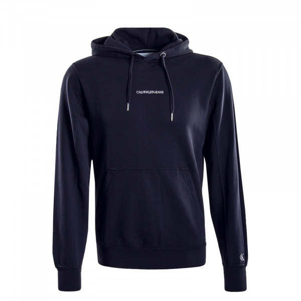 Herren Hoody Institutional Chest Logo Navy