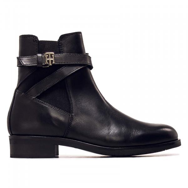 Damen Boots - Hardweare On Belt Flat - Black