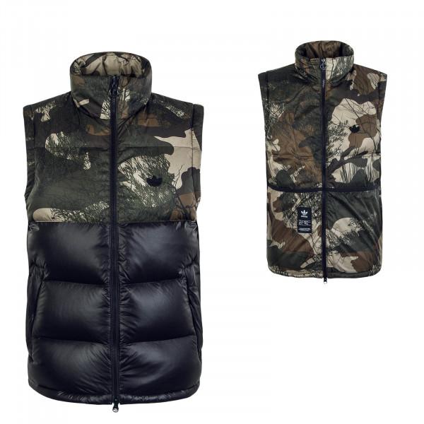 Herren Weste Down Camouflage Black