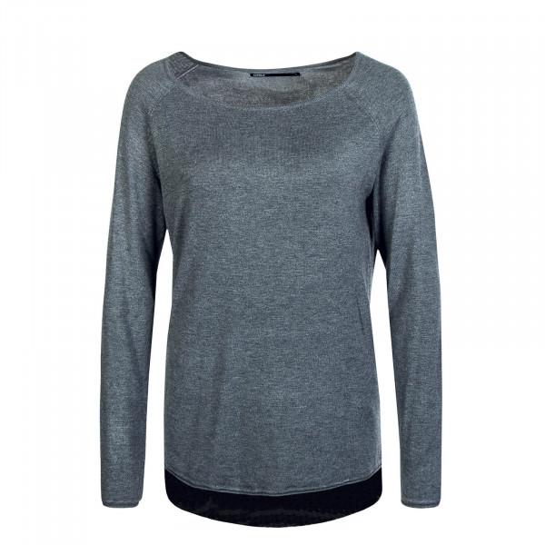 Damen Longsleeve - Mila Lacy - Medium Grey