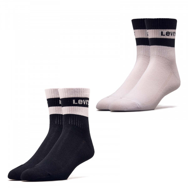Socken - Short Cut Rib Sport - White Black