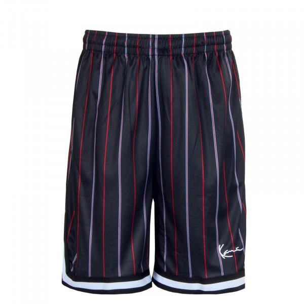 Herren Shorts - Pinstripe Mesh - black