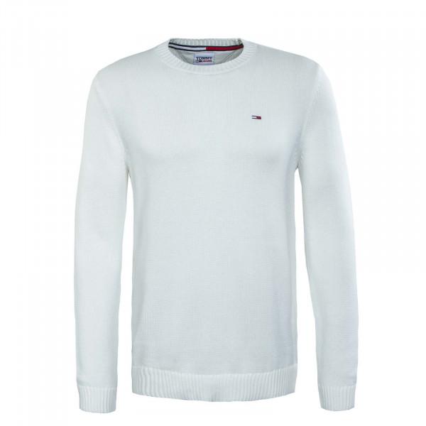 Herren Longsleeve - Essential Crew Neck Sweater Knit Ecru - White