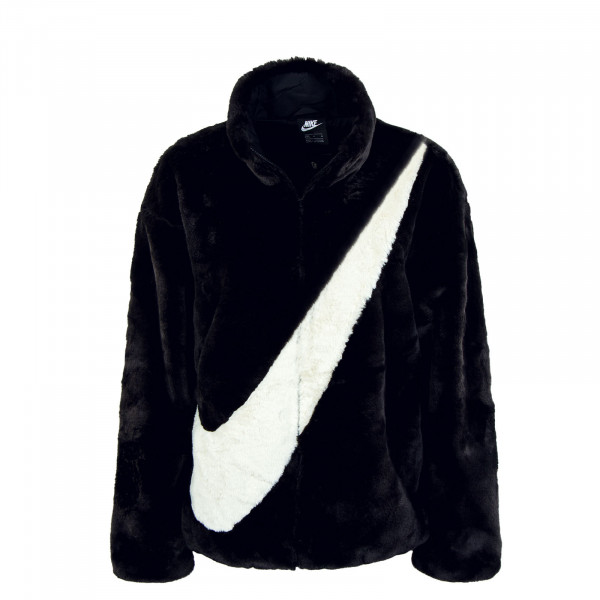 Damen Winterjacke - Faux Fur - Black / Fossil