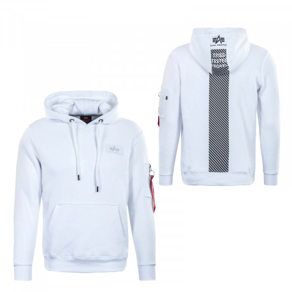 Herren Hoody - Safety Line - White / Black