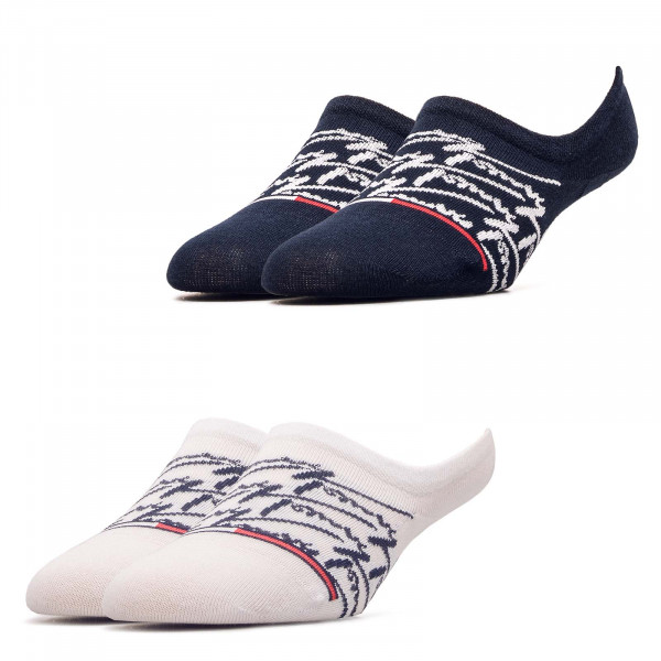 Socken 2er-Pack Footie Handwrite Navy White