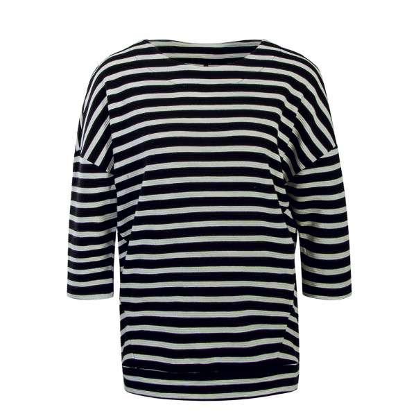 Damen Longsleeve Sanna Stripes Black Beige