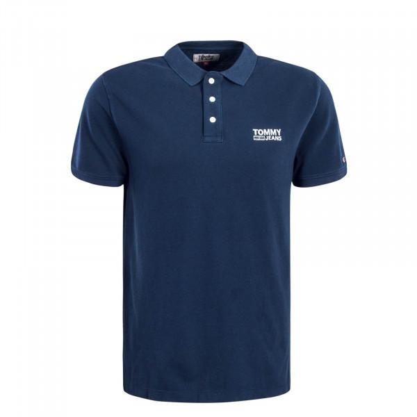 Herren Polo Logo Garment Navy