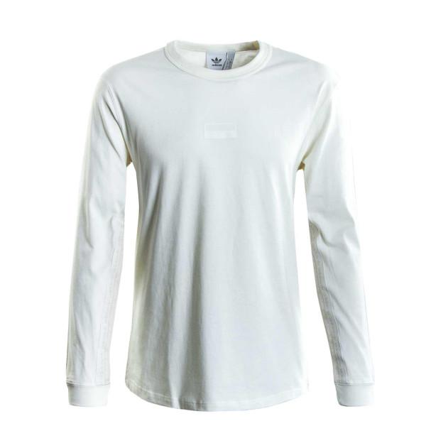 Herren Longsleeve - Adidas R.Y.V. Logo - White