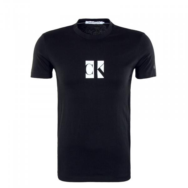Herren T-Shirt - Small Center CK Box - Black