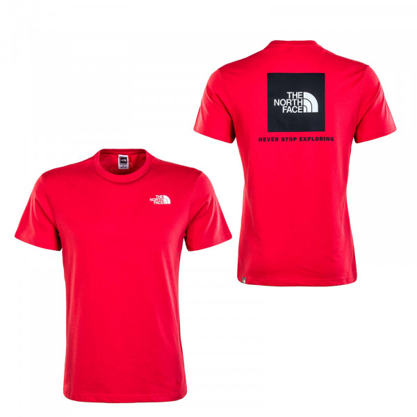 Herren T-Shirt - Red Box Rococco - Red / White