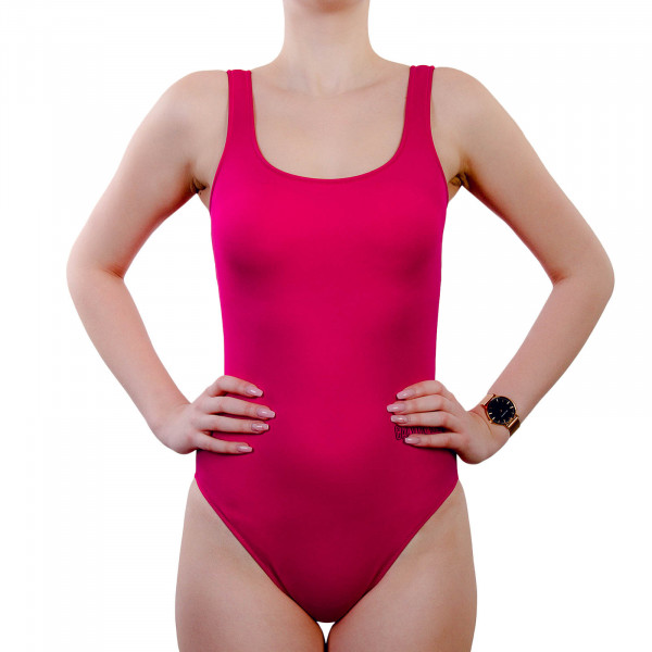 Swimsuit Scoop one Pieces Square 730 Pink