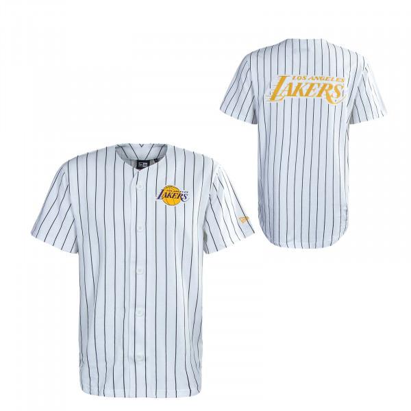 Herren T-Shirt - Pinstripe Baseball Jersey Los Lakers - White