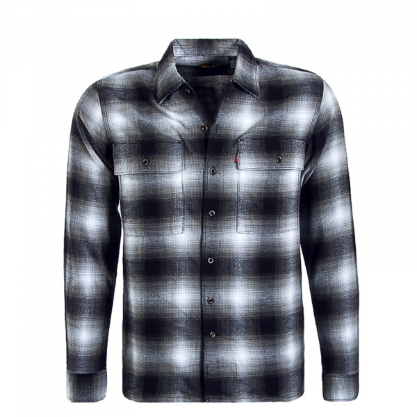 Herren Skate Hemd Work Grey Black