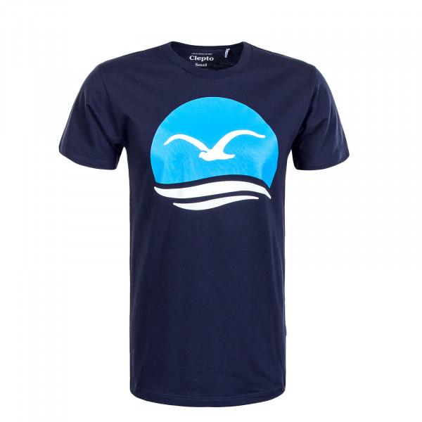 Herren T-Shirt Big Mocean Navy Sky White