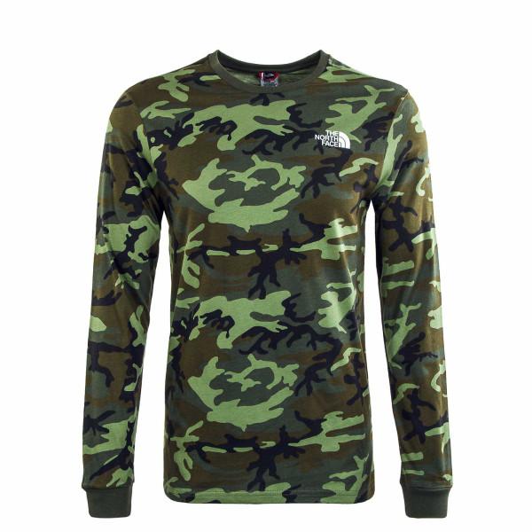 Herren Longsleeve - Simple Dome Thyme Brushwood - Camouflage
