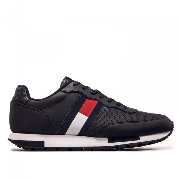 Herren Sneaker - Retro Leather Runner 0726 - Black