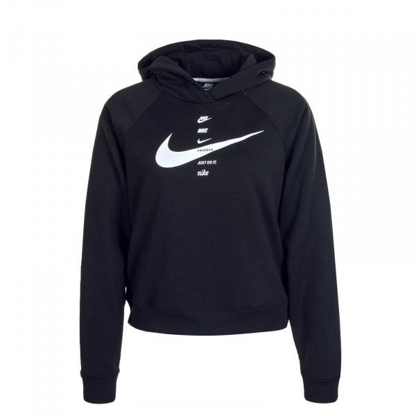 Damen Hoody NSW Swoosh FLC BB Black White