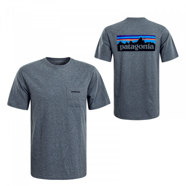 Herren T-Shirt P6 L.Pocket RESPONSIBILI Grey